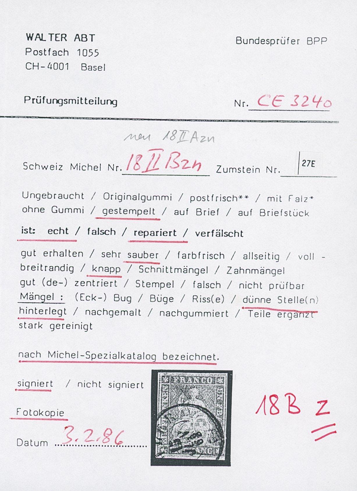 Lot 1106 - Switzerland swiss federal post -  Sellschopp Auktionen GmbH Auction #1