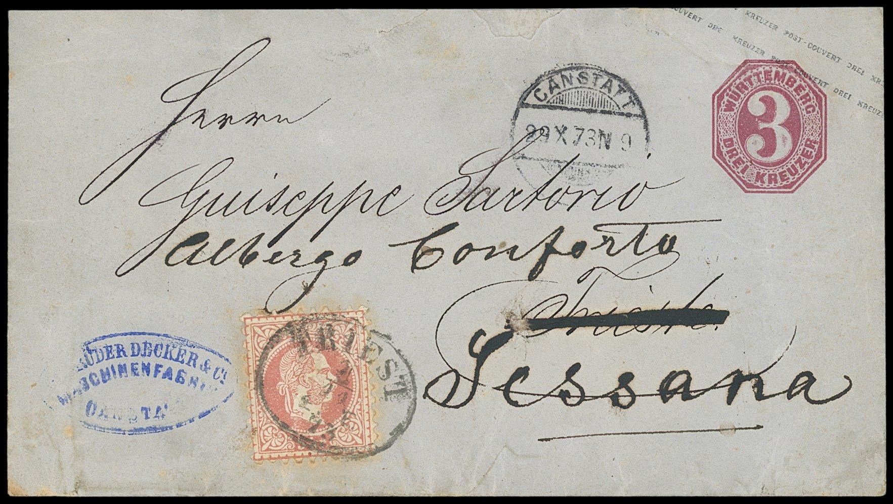 Lot 844 - Wurttemberg Württemberg - postal stationery -  Sellschopp Auktionen GmbH Auction #1
